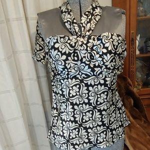 White House Black Market Sexy Silk Halter